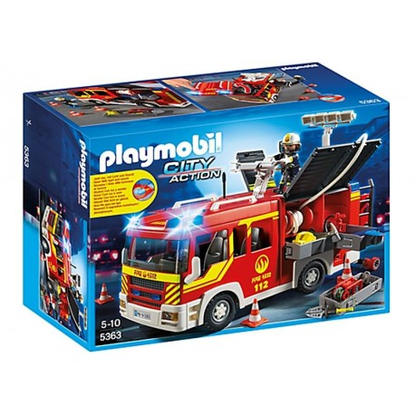 PLAYMOBIL CAMION BOMBEROS C/LUCES Y SONIDO