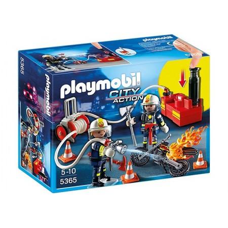 PLAYMOBIL BOMBEROS C/BOMBA DE AGUA