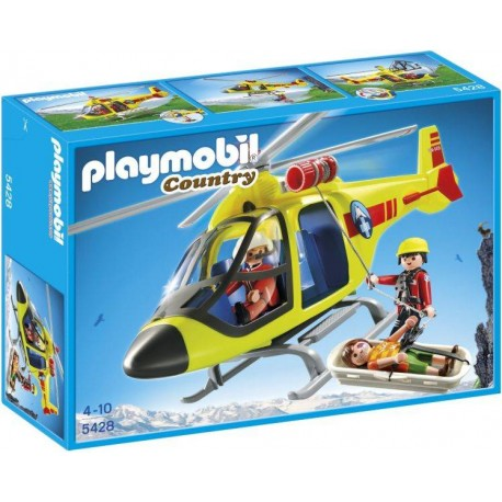 PLAYMOBIL HELICOPTERO RESCATE MONTAÑA
