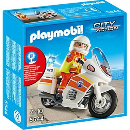 PLAYMOBIL MOTO DE EMERGENCIAS C/LUZ