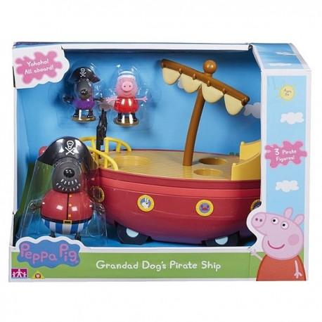 PEPPA PIG BARCO PIRATA DEL ABUELO DOG