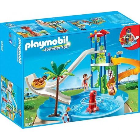 PLAYMOBIL PARQUE ACUATICO CON TOBOGANES