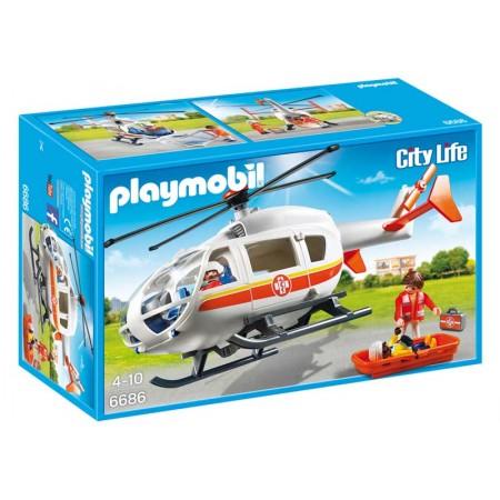 PLAYMOBIL HELICOPTERO MEDICO DE EMERGENCIA