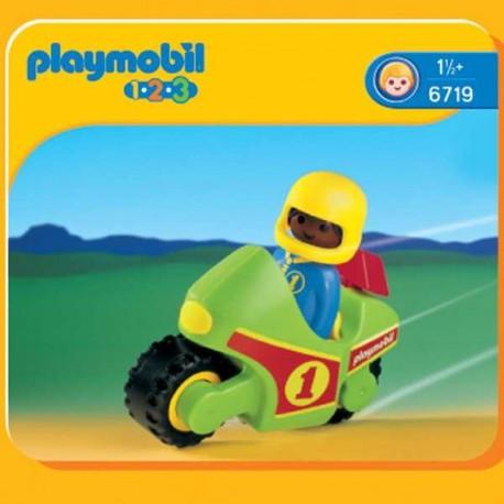 PLAYMOBIL 1.2.3. MOTO DE CARRERAS
