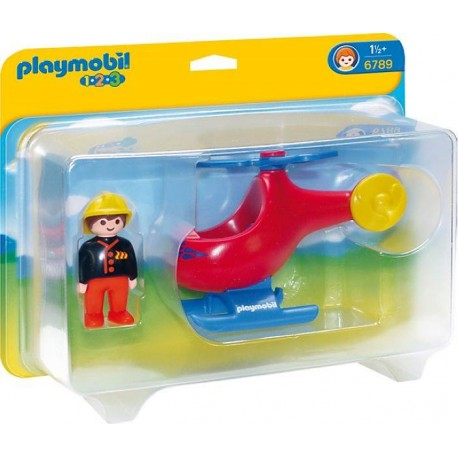 PLAYMOBIL 1.2.3. HELICOPTERO RESCATE