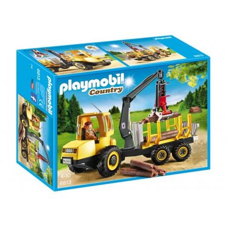 PLAYMOBIL TRANSPORTADOR DE LEÑA CON GRUA
