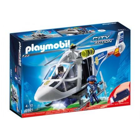 PLAYMOBIL HELICOPTERO DE POLICIA CON LUCES LED