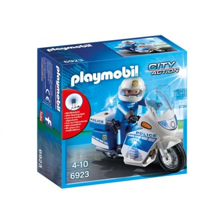 PLAYMOBIL POLICIA CON MOTO Y LUCES LED