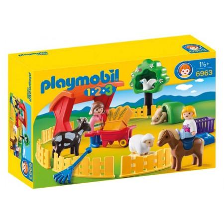 PLAYMOBIL 1.2.3. RECINTO DE ANIMALES