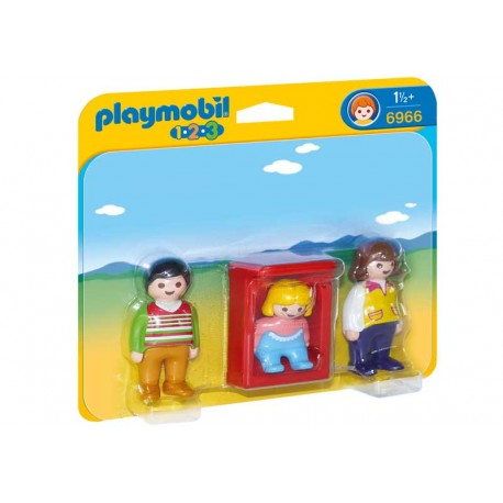 PLAYMOBIL 1.2.3. PADRES CON BEBE