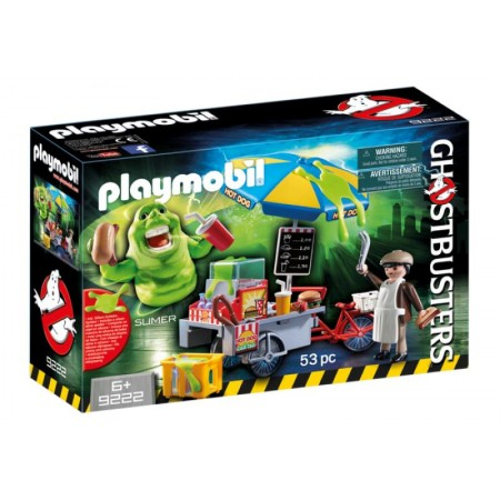 PLAYMOBIL GHOSTBUSTERS SLIMER CON PUESTO HOT DOGS