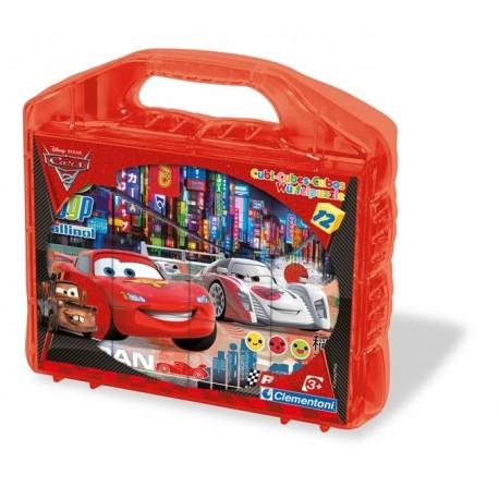 ROMPECABEZAS 12 CUBOS CARS