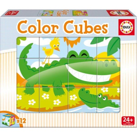 COLOR CUBES 12 CUBOS ANIMALES SELVA