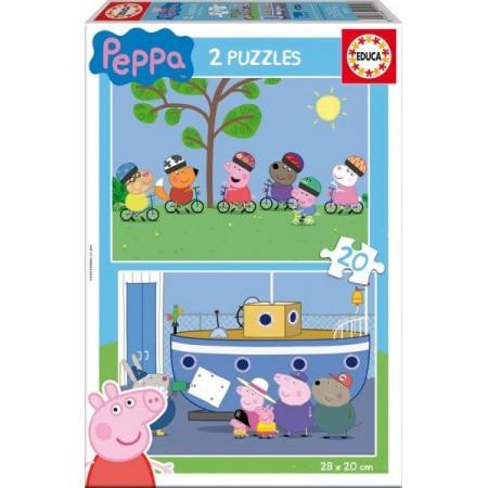 PUZZLE 2x20 PZAS. PEPPA PIG
