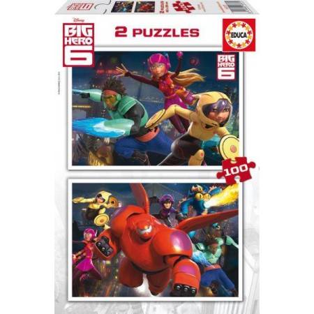 PUZZLE 2x100 PZAS. BIG HERO 6