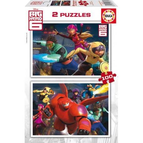 PUZZLE 2x100 PZAS. BIG HERO 6