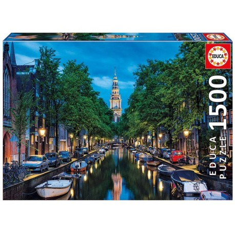PUZZLE 1500 PZAS. OSCURECE EN EL CANAL, AMSTERDAM