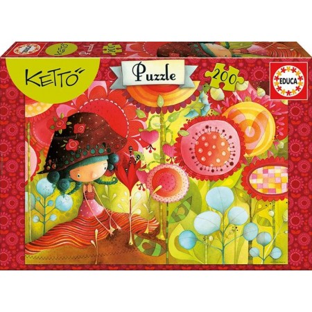 PUZZLE 200 PZAS. JUNGLE FLOWERS KETTO