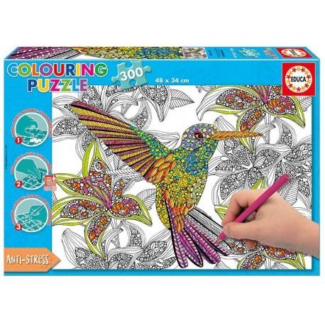 PUZZLE 300 PZAS. COLOREAR HUMMINGBIRD