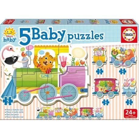 BABY PUZZLES TREN DE LOS ANIMALES