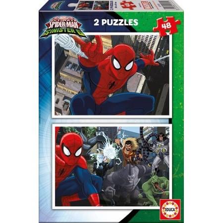 PUZZLE 2x48 PZAS. SPIDERMAN VS. SINISTER 6