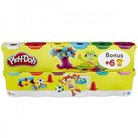 PLAY DOH PACK 6+6 BOTES